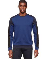 Calvin Klein Crew-Neck Lightweight Sweatshirt blue - Lyst