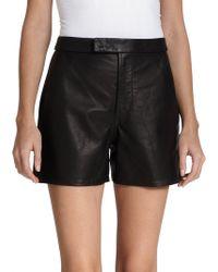 Polo Ralph Lauren Leather Shorts - Lyst