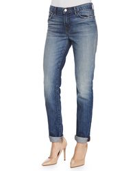 J Brand Jake Slim Boy Cuffed Jeans Adored 24 - Lyst