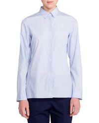 Jil Sander Tiziana Button-Down Shirt blue - Lyst