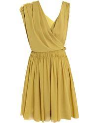 Lanvin Techno Jersey Dress green - Lyst