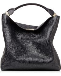 Burberry Lindburn Embossed Leather Hobo Bag - Lyst