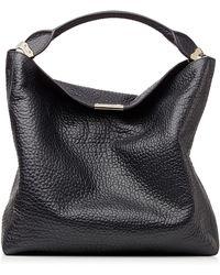 Burberry Lindburn Embossed Leather Hobo Bag - Lyst