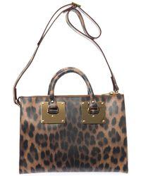 Sophie Hulme Mini Ziptop Bowling Bag - Lyst