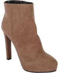 Prada Suede Platform Ankle Boots - Lyst