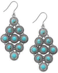Lucky Brand - Jewelled Drop Earrings - Lyst