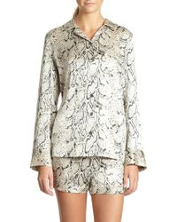 Equipment Lillian Silk Satin Pythonprint Pajama Set - Lyst