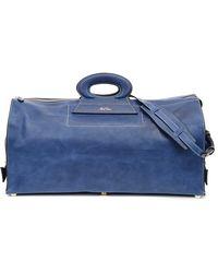Mark Cross Vintage Duffle Bag In Blue Pebble Grain Calf Leather blue - Lyst