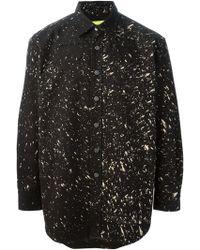 Raf Simons Speckled Print Shirt - Lyst