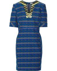 Matthew Williamson Bead-embellished Jacquard Dress - Lyst