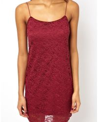 Asos Lace Mini Cami Dress - Lyst