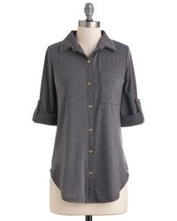 Poema Keep It Casual-Cool Top In Charcoal - Lyst