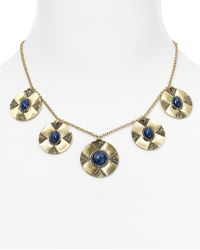 """House of Harlow 1960 - Dorelia Coin Statement Necklace, 15"""" - Lyst"""