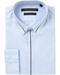 Kenneth Cole Carman Contrast Insert Panel Detail Shirt blue - Lyst