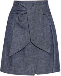 MSGM | Self-tie Waist Denim Skirt | Lyst
