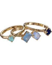 Kate Spade Kate Spade Cluster Ring Set - Lyst