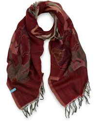 Manipuri - Pink Horse Print Wool Scarf - Lyst