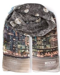 Moschino Cheap & Chic City Landscape Print Scarf - Lyst