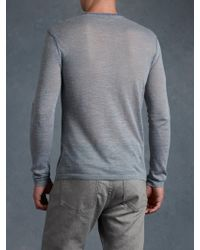 John Varvatos Whipstitched Crew Neck Sweater - Lyst