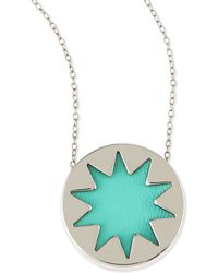 House of Harlow 1960 - Mini Sunburst Pendant Necklace Robins Egg Blue Stylist Pick - Lyst