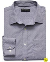 Banana Republic Factory Slim-Fit Non-Iron Gray Dobby Shirt gray - Lyst