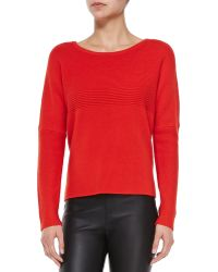 Helmut Lang Mixed-rib Knit Pullover Sweater - Lyst