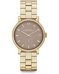 Marc By Marc Jacobs Baker Goldtone Stainless Steel Bracelet Watch - Lyst
