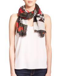 Proenza Schouler Mixed Print Modal & Silk Scarf red - Lyst