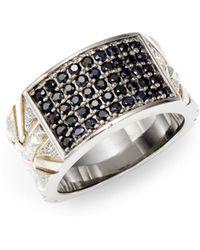 Stephen Webster Alchemy Black Sapphire  Sterling Silver Pavã Ring - Lyst