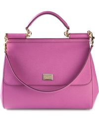 Dolce & Gabbana Siciliy Large Leather Tote - Lyst