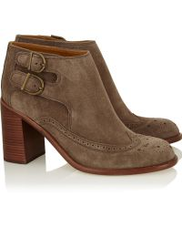 See By Chloé Suede Ankle Boots - Lyst