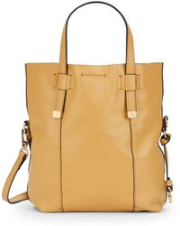 Halston Heritage Leather Tote & Pouch brown - Lyst