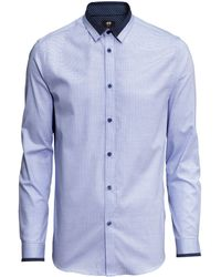 H&M Shirt In A Textured Weave - Lyst