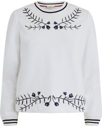 Tory Burch - Lacey Embroidered Sweatshirt - Lyst