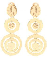Oscar de la Renta Circle Clip-on Earrings - Lyst