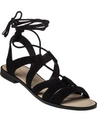 Rebecca Minkoff   Greyson Lace-Up Suede Sandals   Lyst