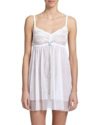 Hanky Panky Dotted Tulle Chemise - Lyst