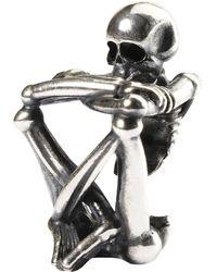Trollbeads - Sterling Silver Skeleton Spirit Bead - Lyst