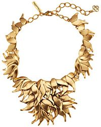 Oscar de la Renta Leaf Necklace - Lyst