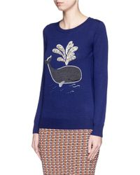 Markus Lupfer | 'whale' Bead Embellished Emma Sweater | Lyst