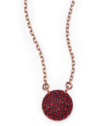 Michael Kors Brilliance Rose Small PavÉ Disc Necklace - Lyst