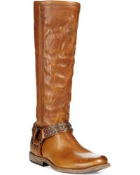 Frye Women'S Phillip Studded Harness Tall Boots - Lyst