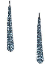 Michael Kors Gunmetal-tone and Blue Montana Stone Statement Drop Earrings - Lyst