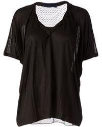 Sharon Wauchob Sheer Net T-Shirt - Lyst