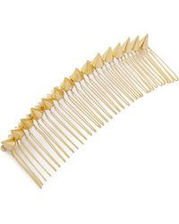 Amber Sceats - Pyramid Hair Comb - Gold - Lyst