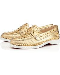 christian louboutin yacht spikes loafers