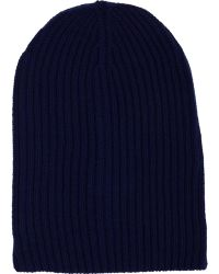 Barneys New York Cashmere Beanie blue - Lyst