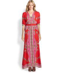 Marchesa Voyage Silk Scarf Maxi Dress - Lyst