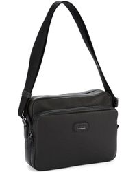 Hugo Boss Leather Toiletries Tote - Lyst
