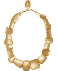 Herve Van Der Straeten - Goldplated Layered Square Necklace - Lyst